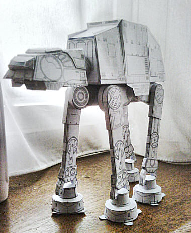 at-at free downloadable paper model