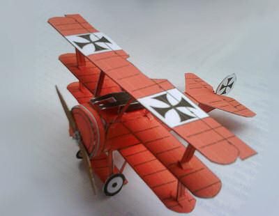 fokker triplane paper model