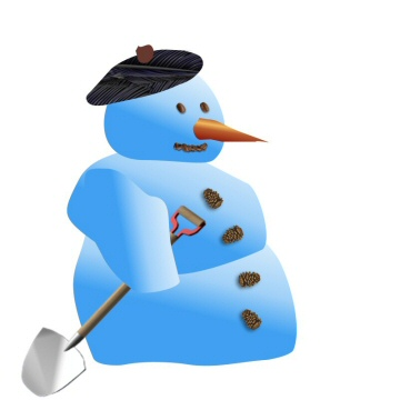 snowman with spade