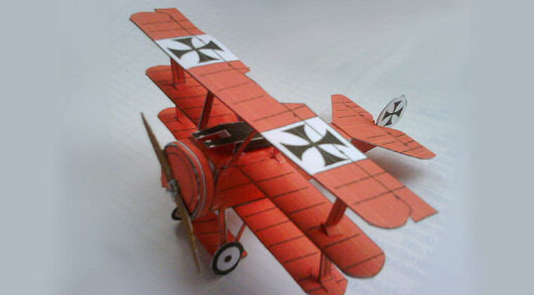 paper fokker triplane model